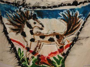 paard aquarel